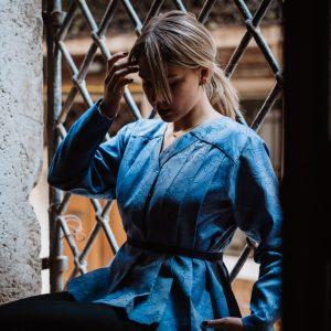 camicia autunno veneziano blu